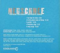 Neuschnee, CD, back